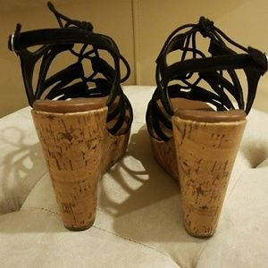 Mossimo Supply Co. Shoes - Black strappy wedges